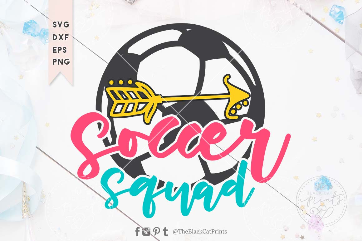 Soccer squad SVG DXF EPS PNG example image 1