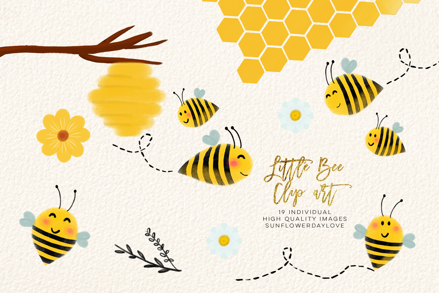 bee clip art, bees illustration, Honey bee clipart example image 2