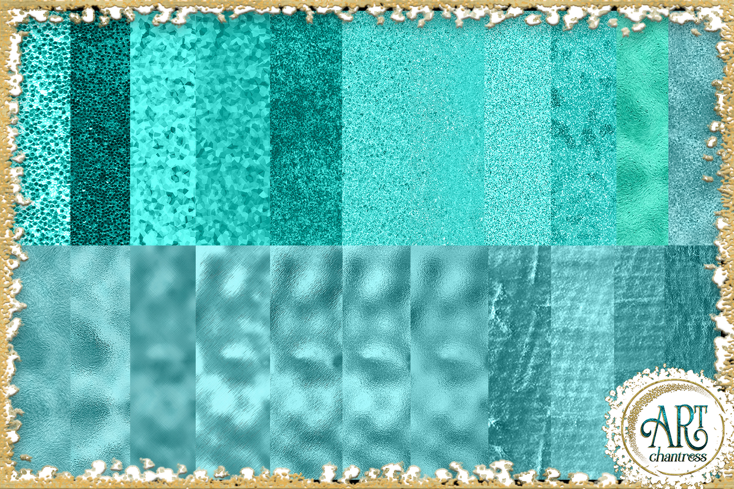 Blue Glitter Digital Papers example image 3