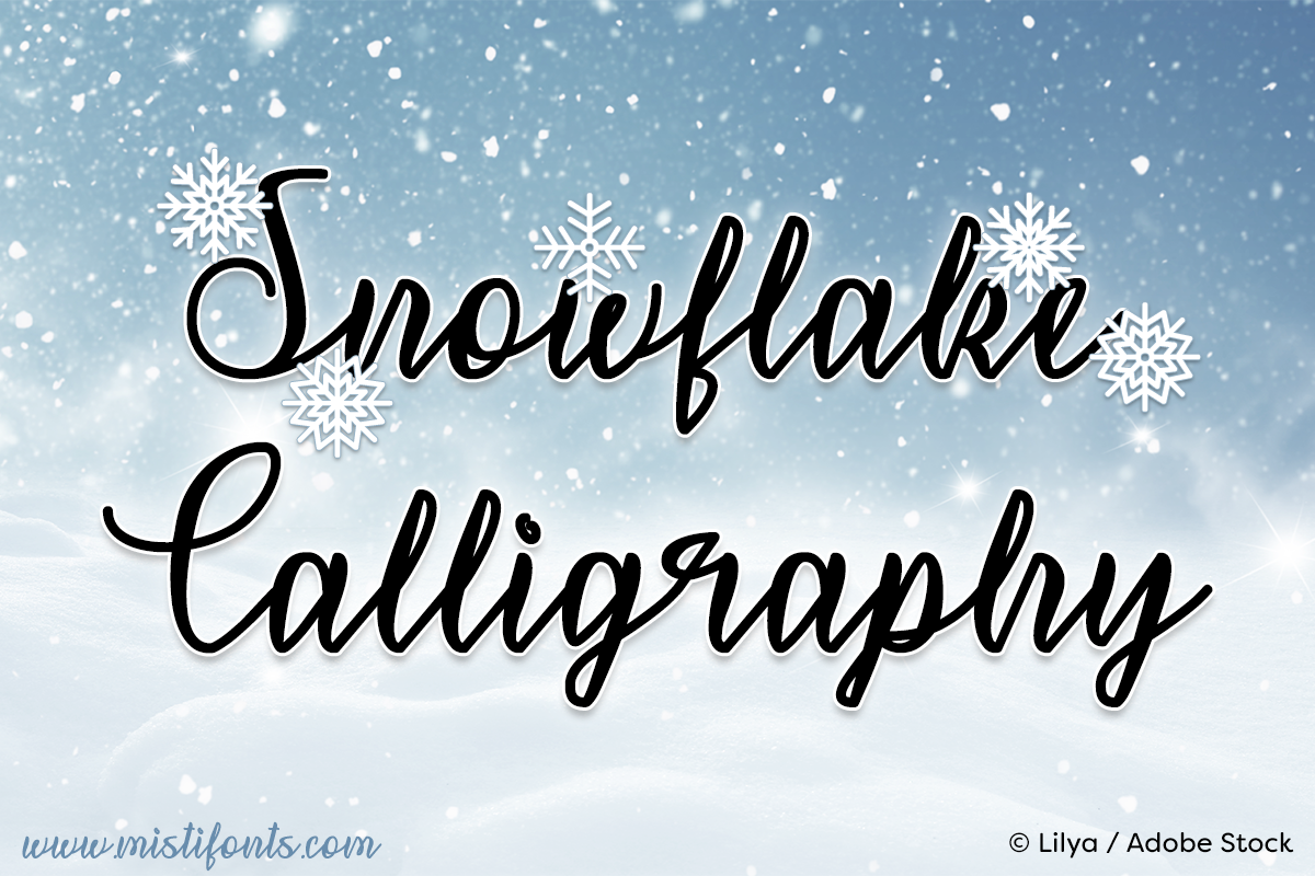 Snowflake Calligraphy example image 1