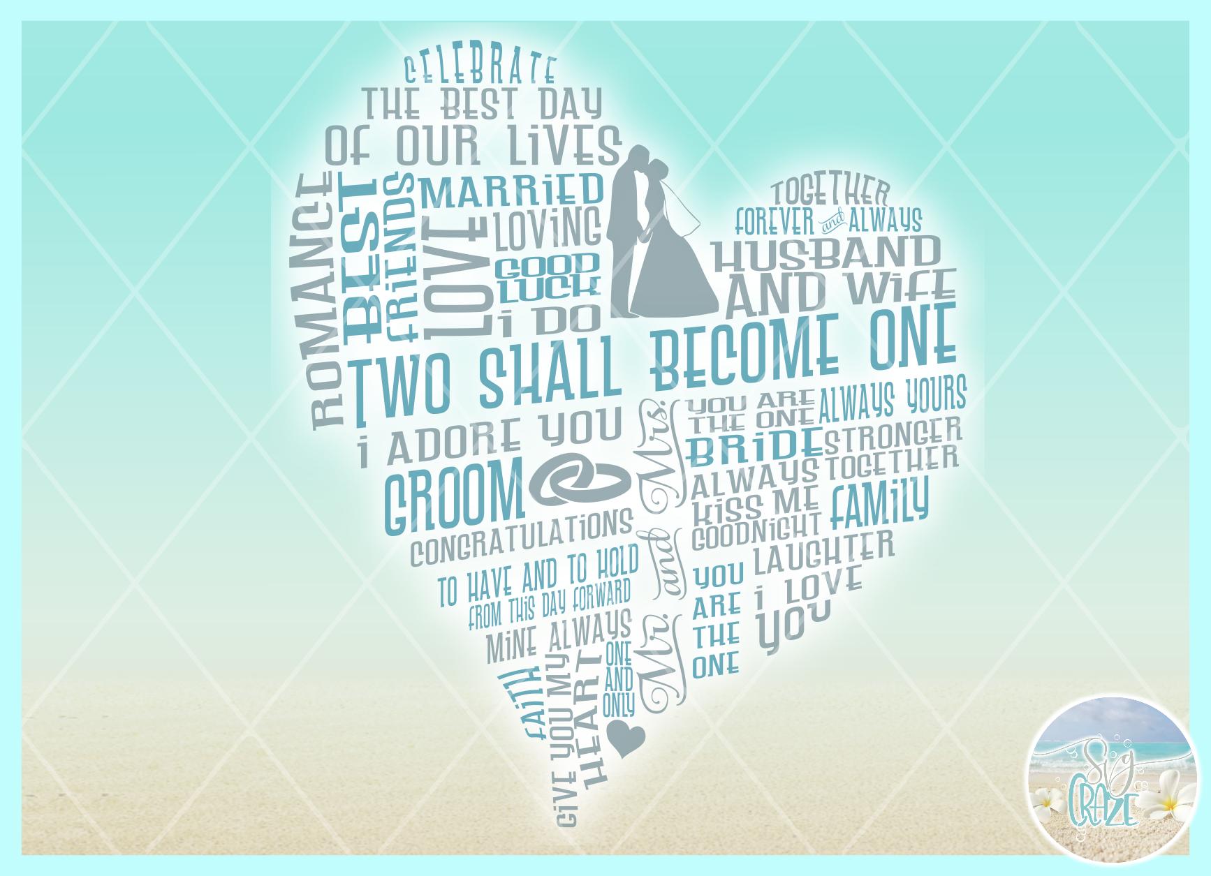 Subway Art Wedding Anniversary Heart SVG example image 2