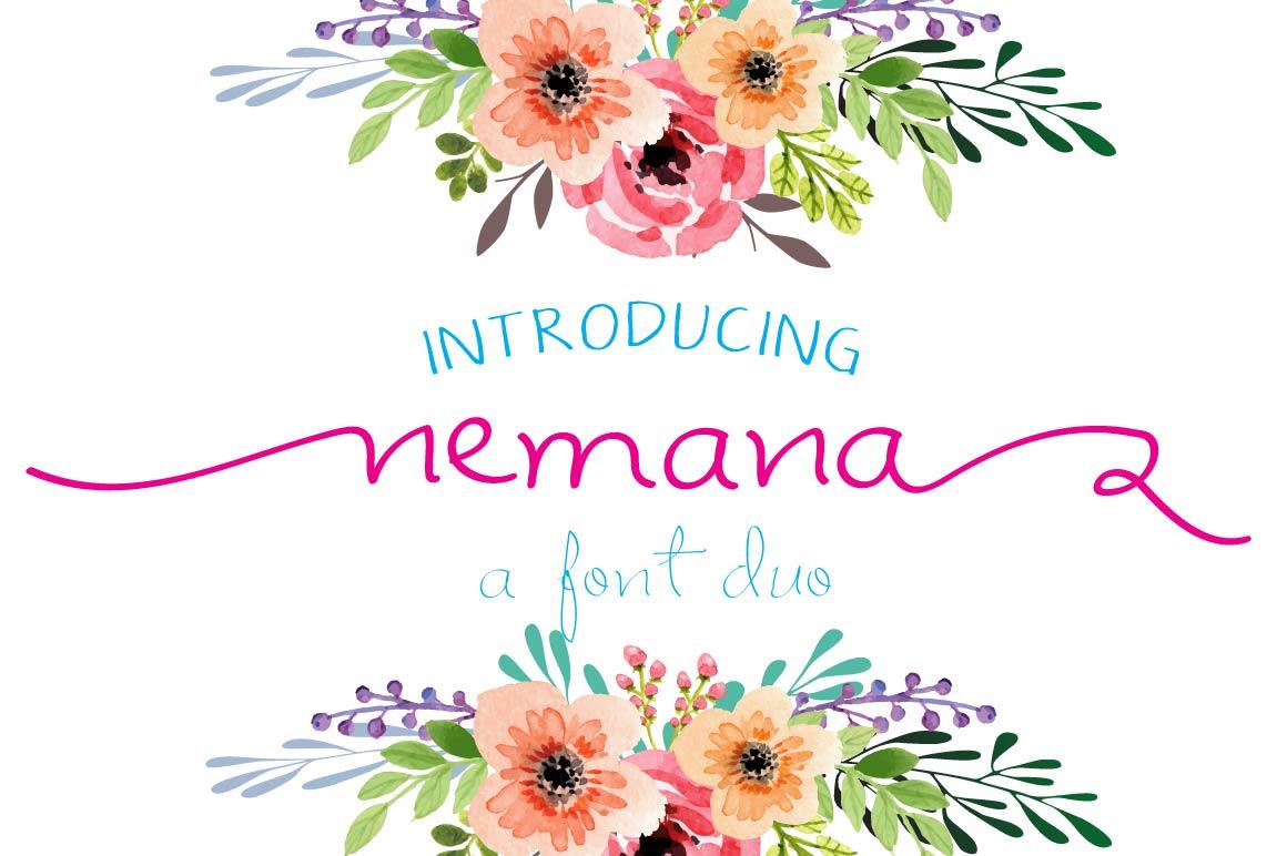 Nemana - A font Duo example image 1
