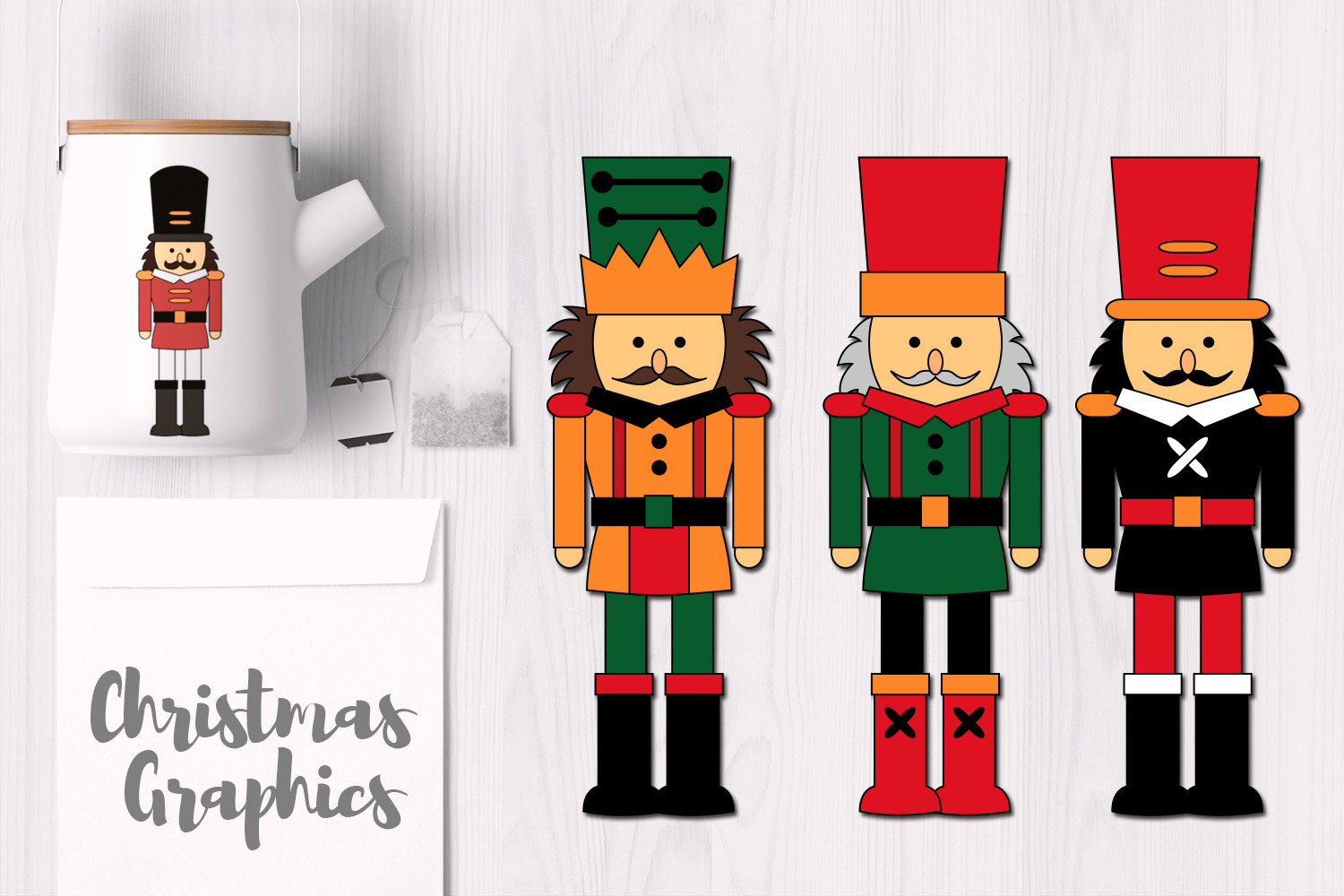 Christmas Nutcrackers Graphics and Illustrations