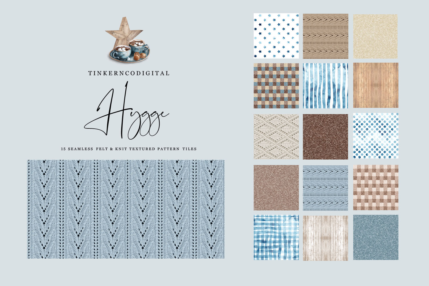 Hygge Clipart and Seamless Pattern Paper Sublimation designs example image 4