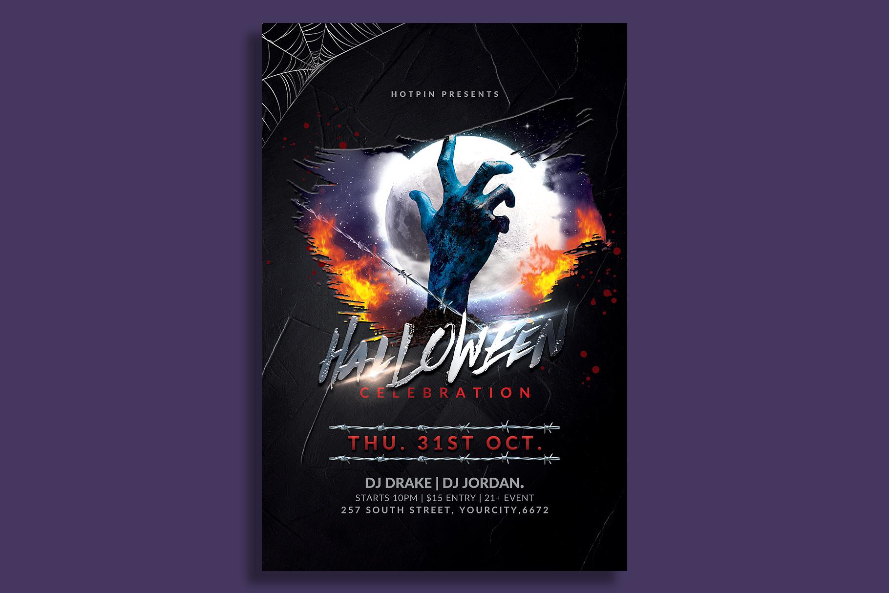 Halloween Flyer Template example image 1