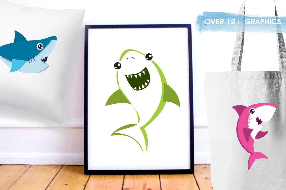 Baby Sharks graphic and illustrations example image 5