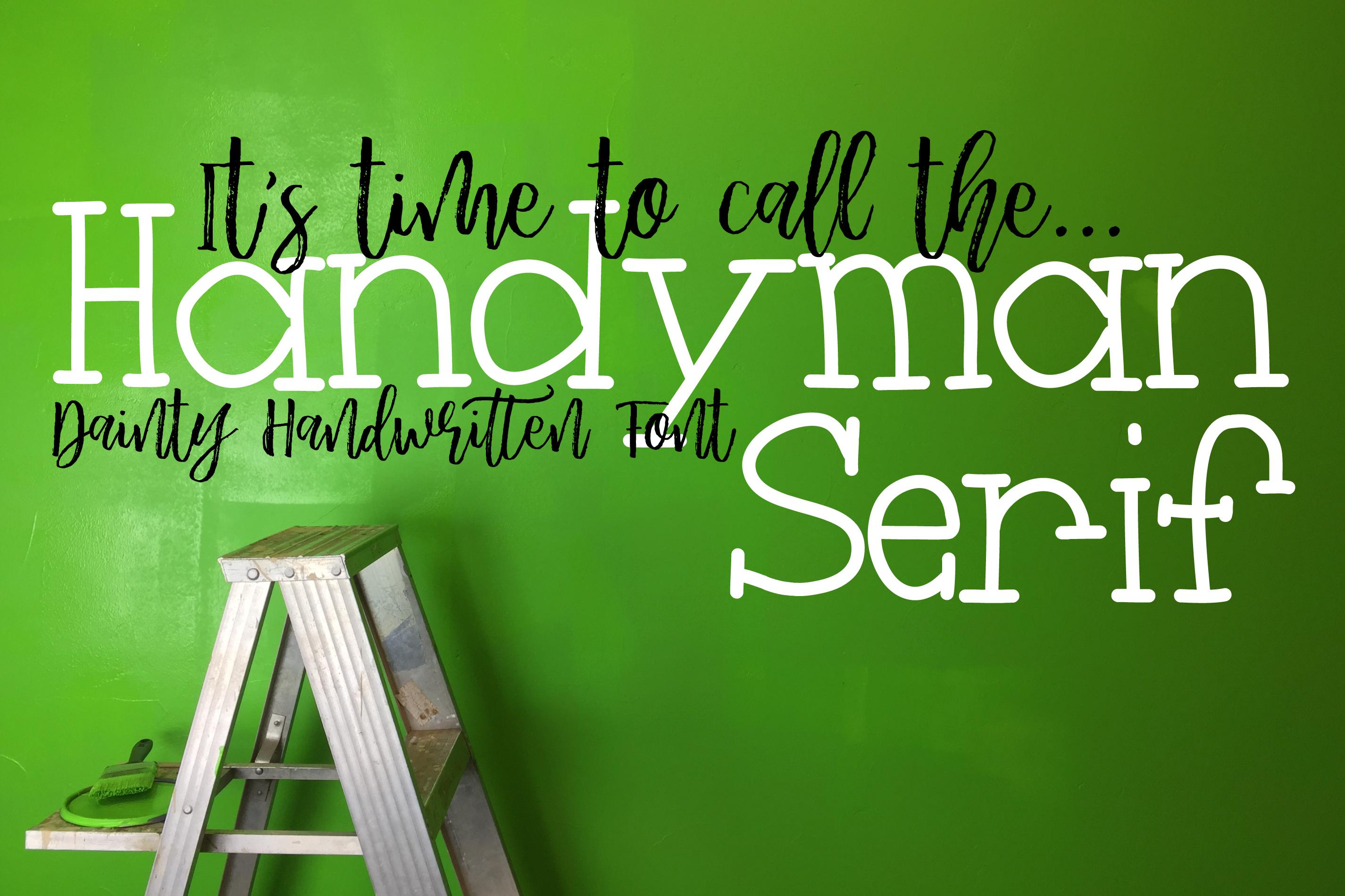 Handyman Serif Handdrawn Font example image 1