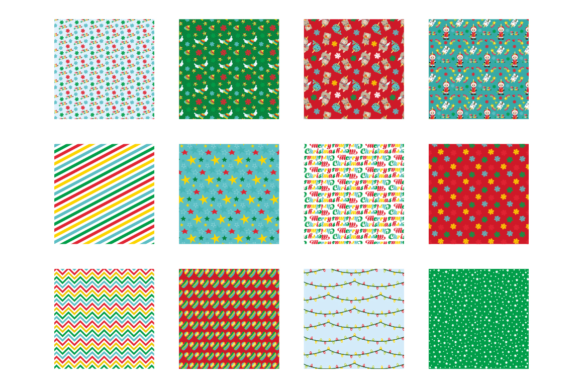 Christmas Magical Pattern collection, vector ai, example image 2