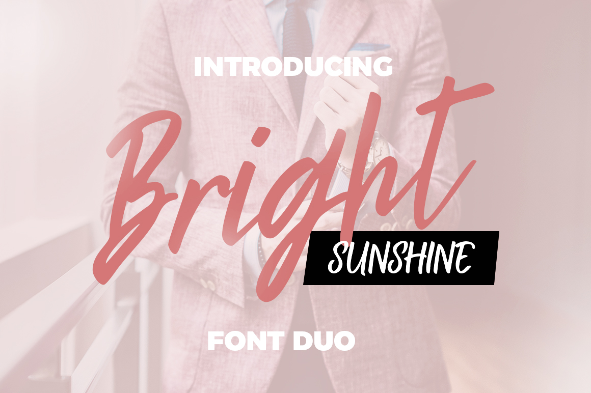 Bright Sunshine Font Duo example image 12