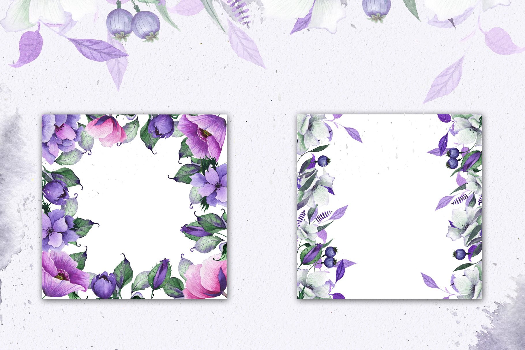 Floral purple green wedding collection example image 8