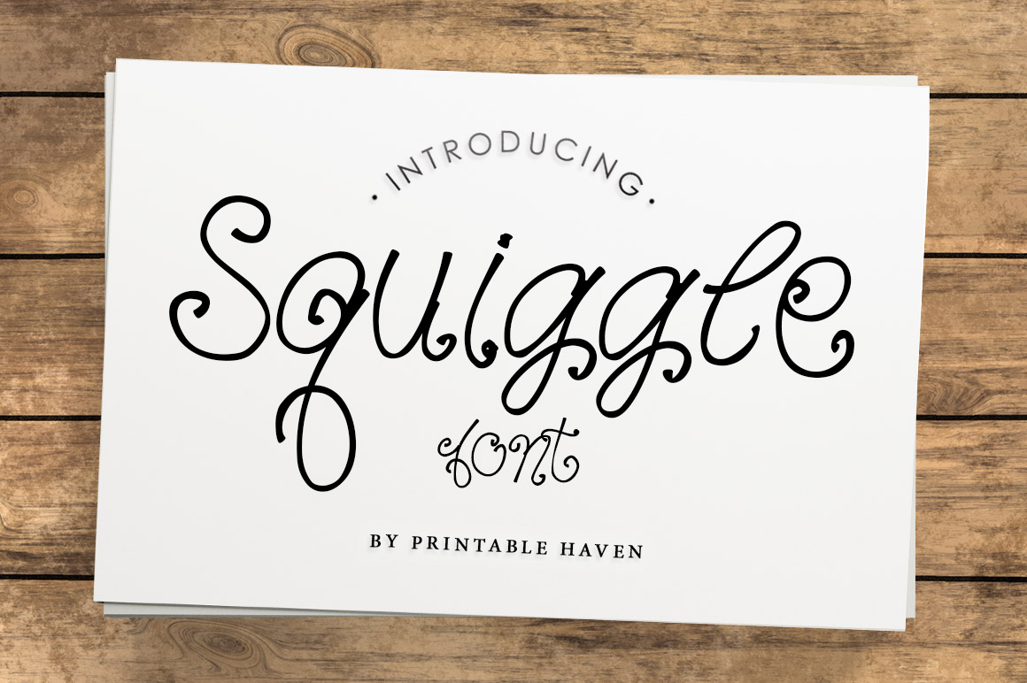 Squiggle Font example image 1