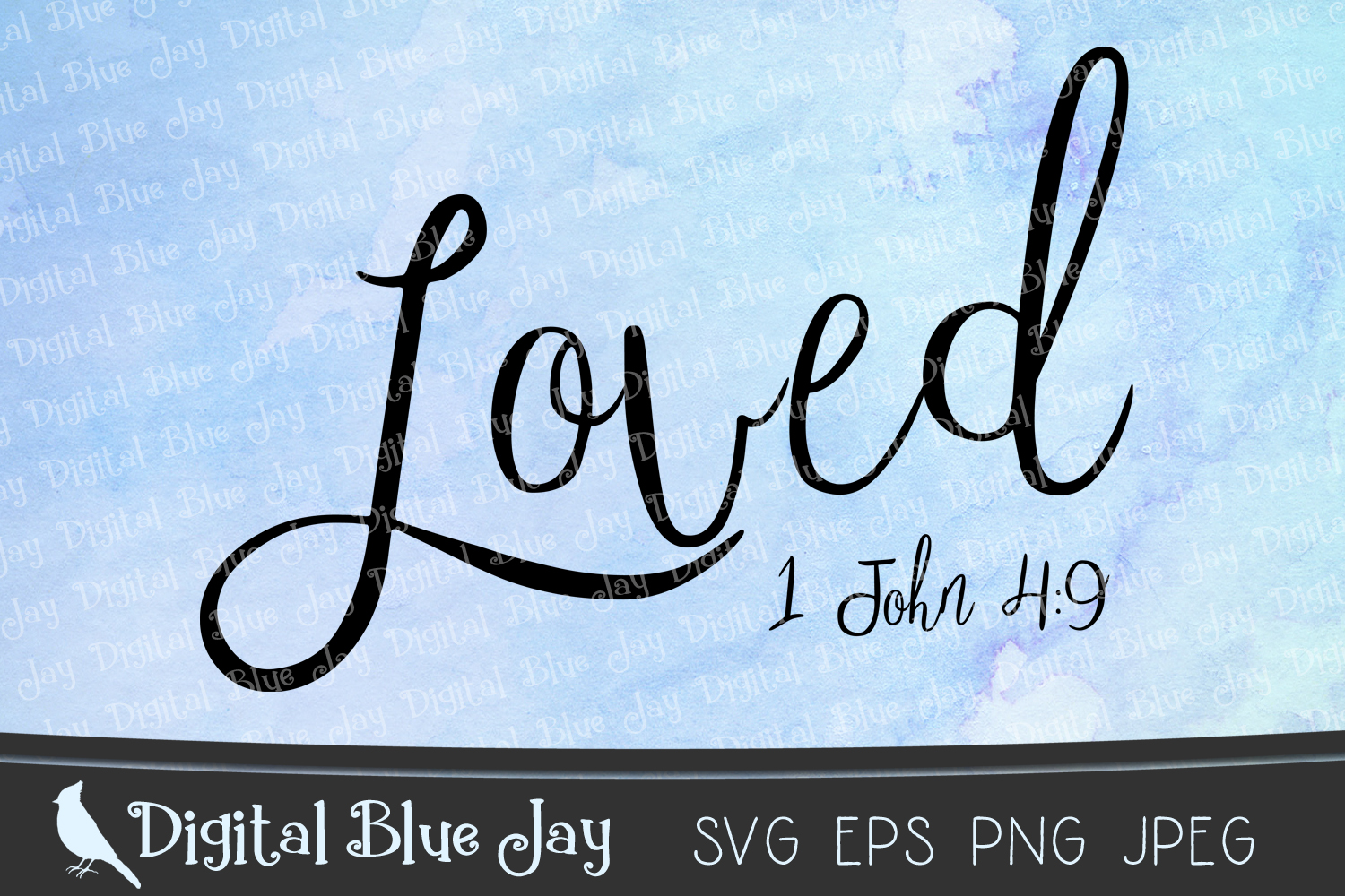 Loved Bible Verse Christian SVG PNG Cut Files example image 2