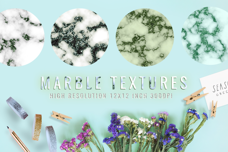 Emerald digital paper, green marble digital paper textures example image 1
