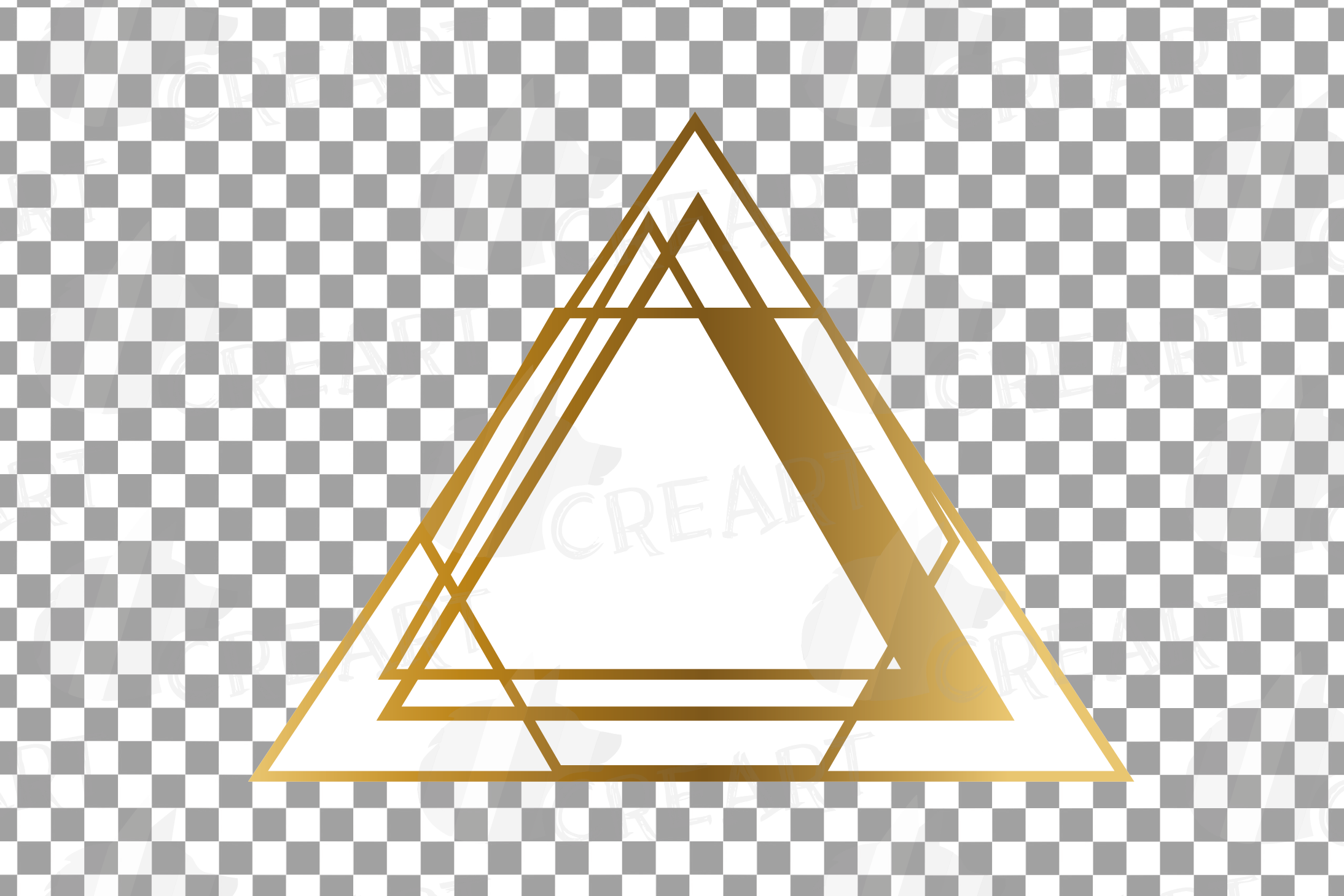 Chaotic geometric golden frames, lineal frames clip art example image 7