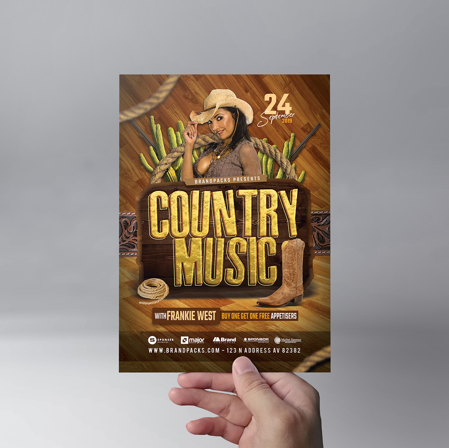 Country Music Flyer Template example image 9