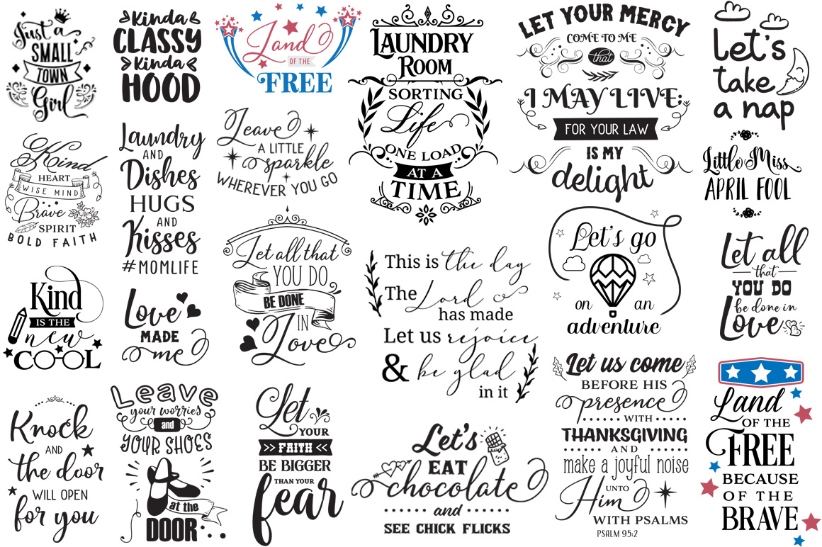 The Ginormous SVG Cut Files Bundle example image 25