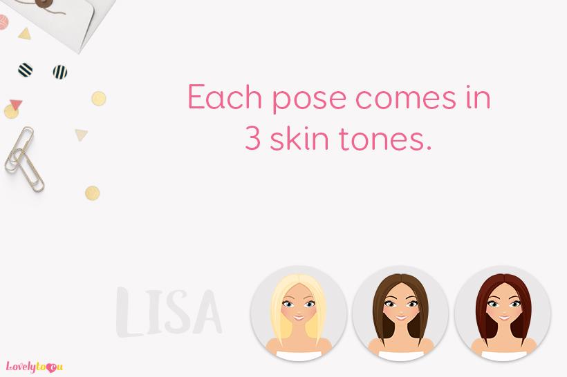 Woman teacher character clip art L151 Lisa example image 2