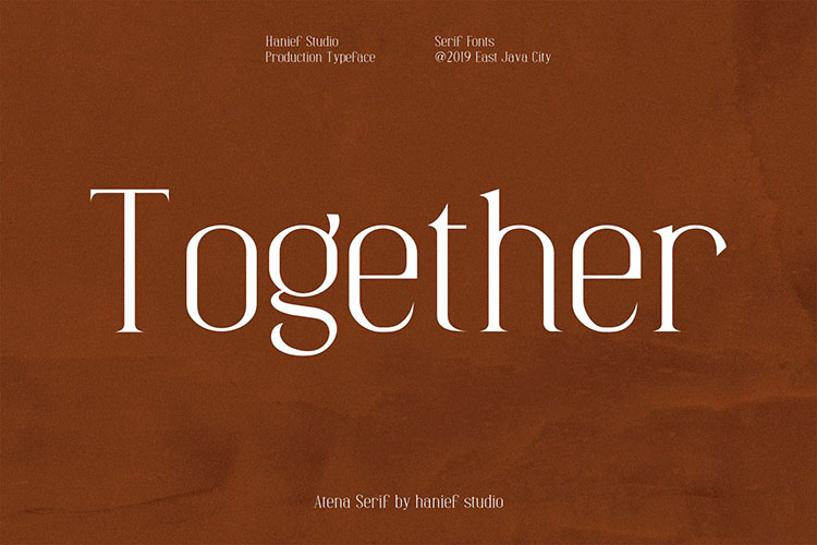 Atena - Serif Font example image 3