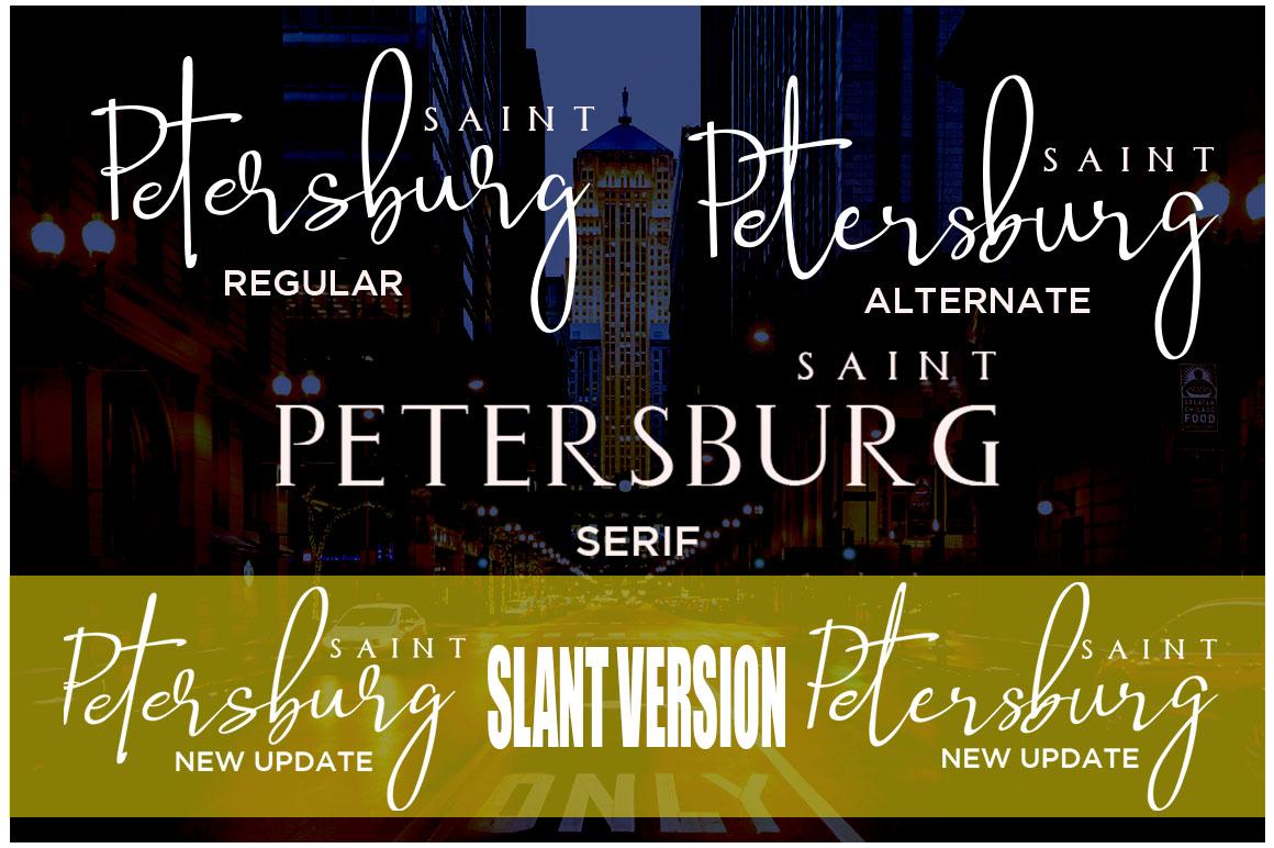 Saint Petersburg l Font Duo example image 2