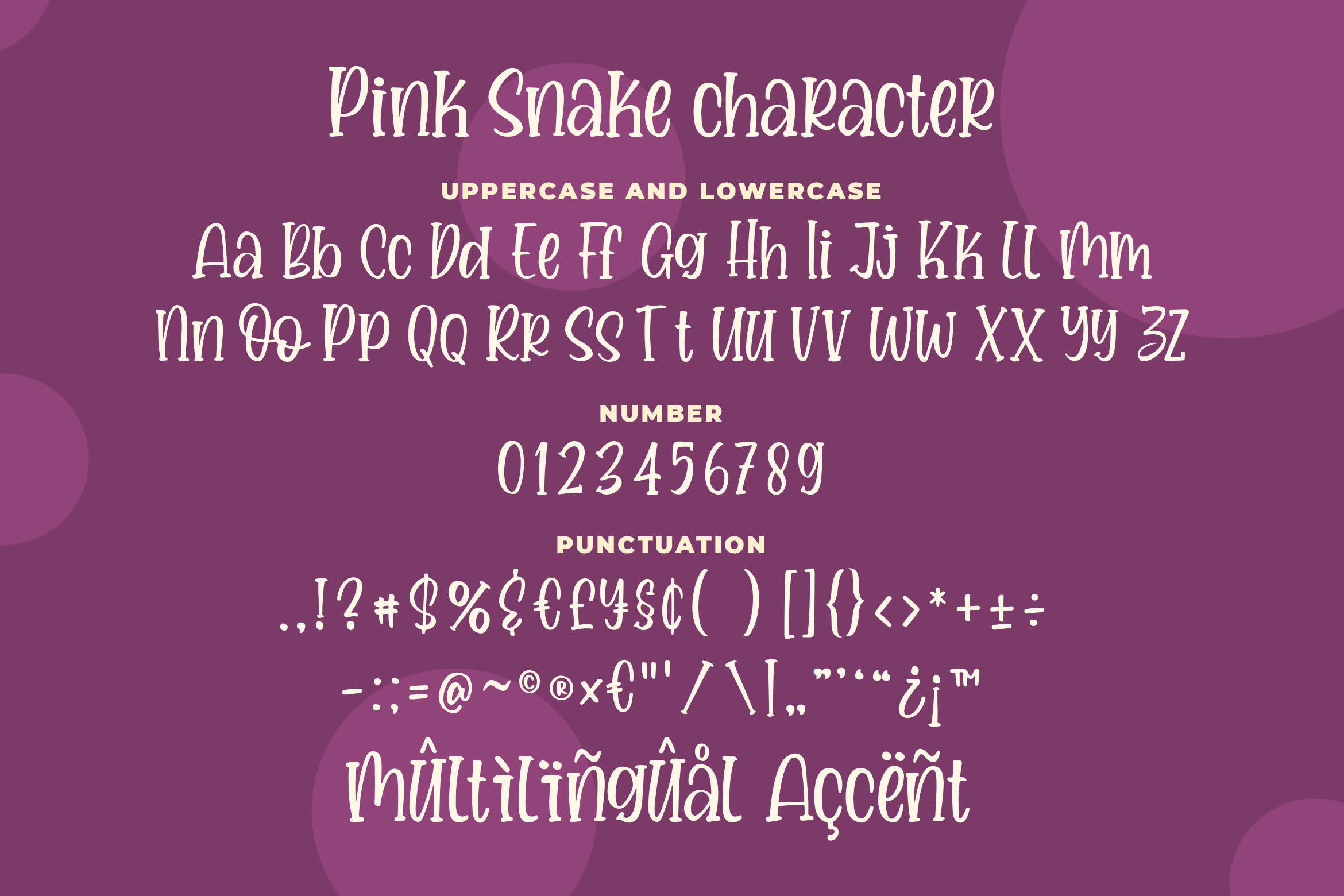 Pink Snake - a Quirky Handwritten Font example image 5