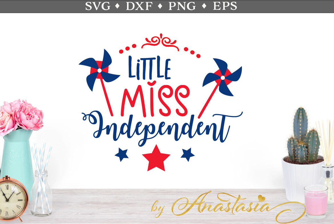 Little Miss Independent SVG Cut File example image 1