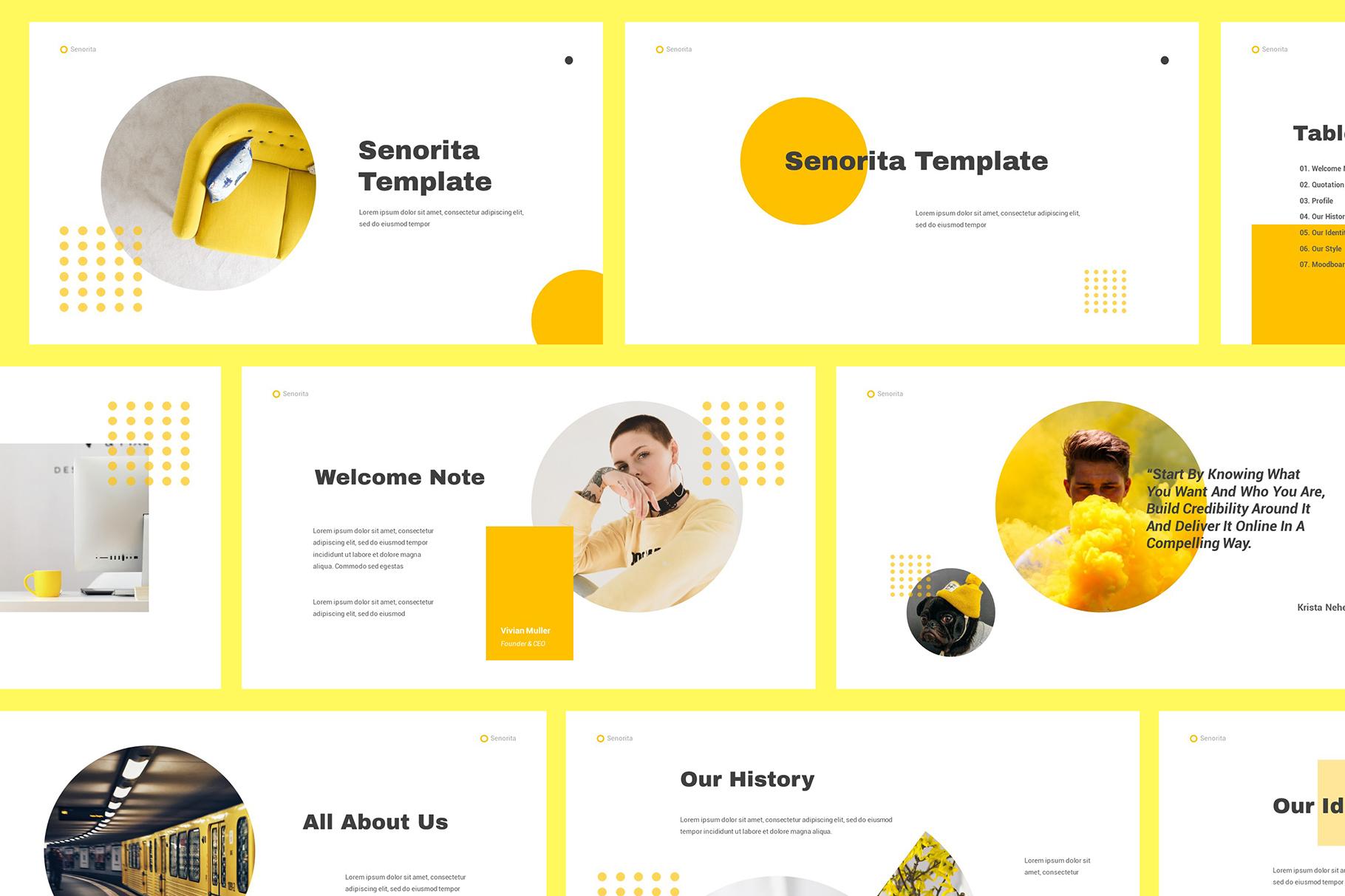 Senorita Brand Guideline Powerpoint example image 1