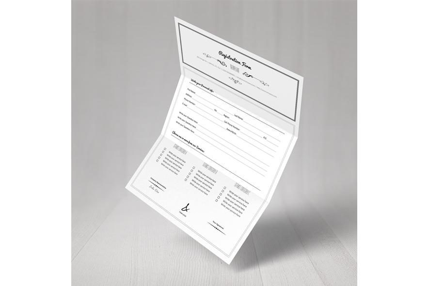 Registration Form Template v3 example image 6