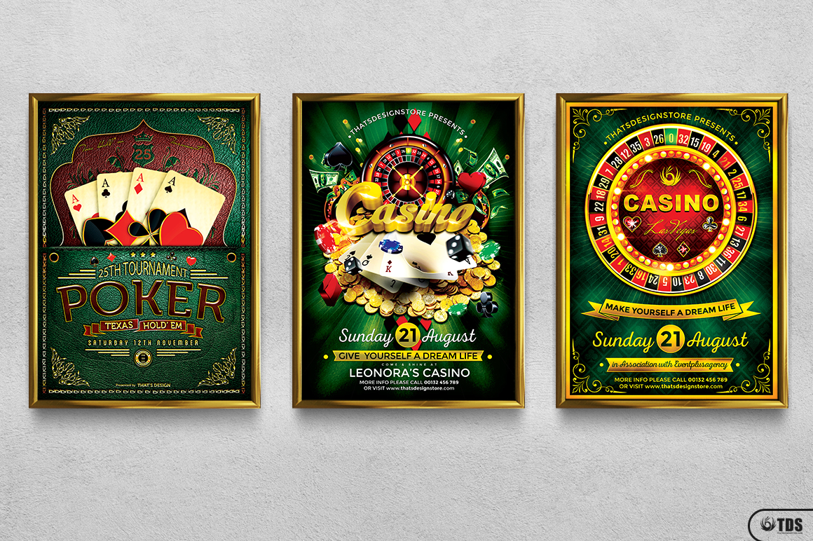 Poker and Casino Flyer Bundle example image 14