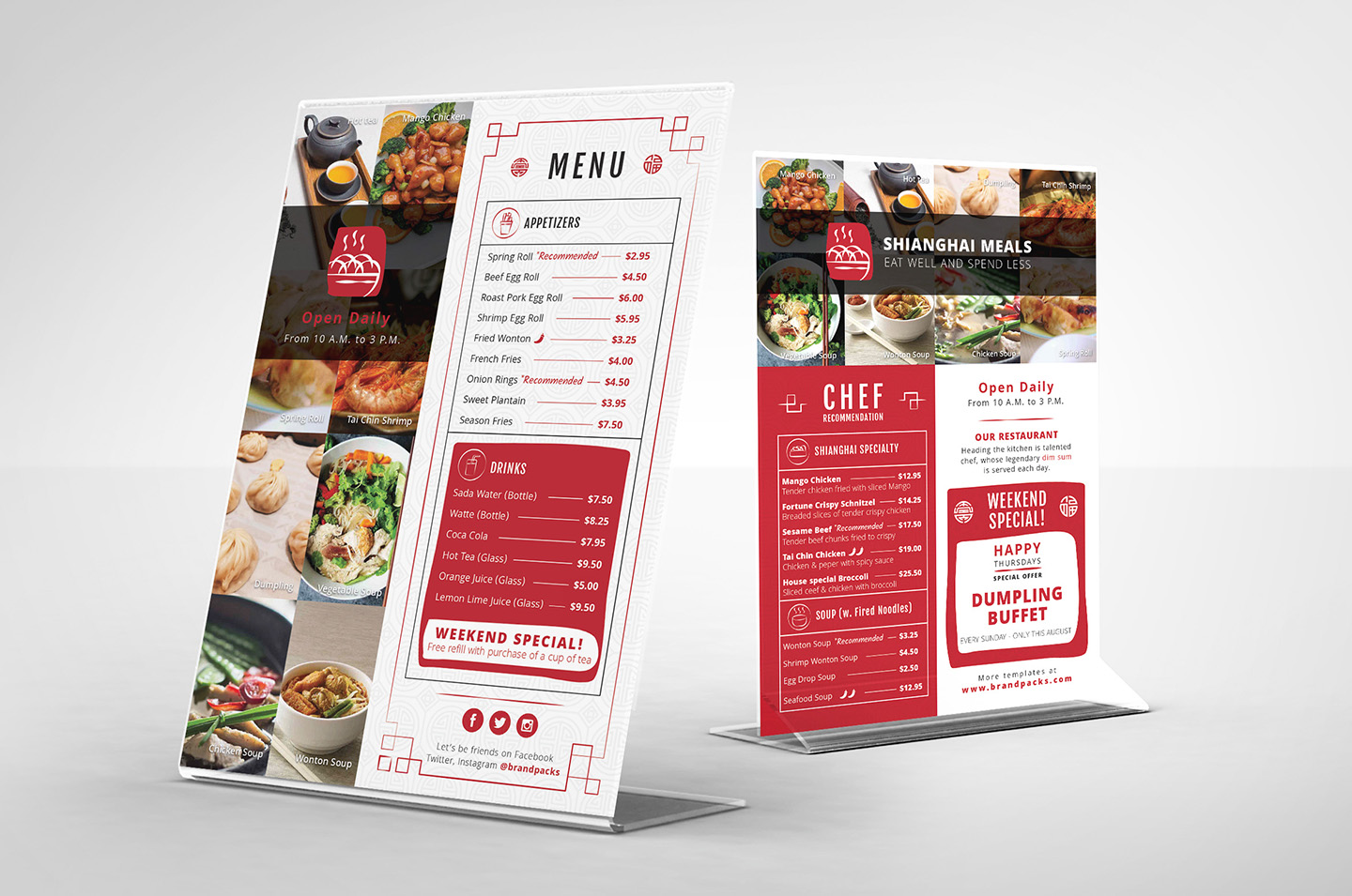Chinese Menu & Flyer Template example image 7