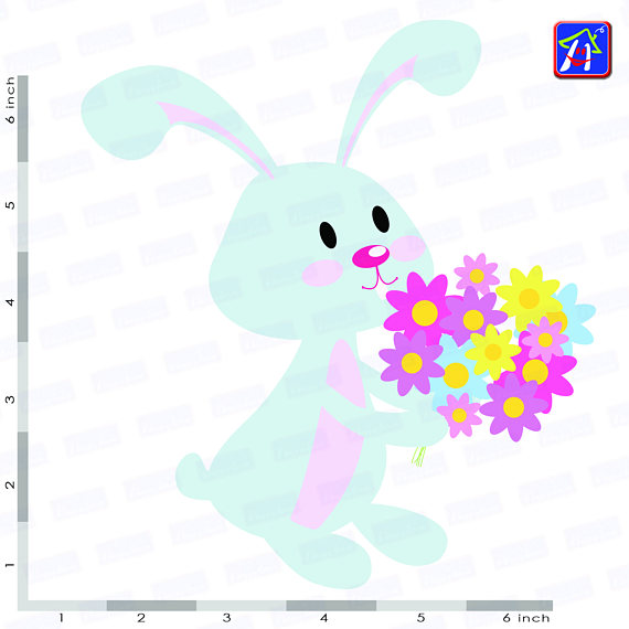 Easter bunny clip art - Personal and commercial use - Easter example image 6