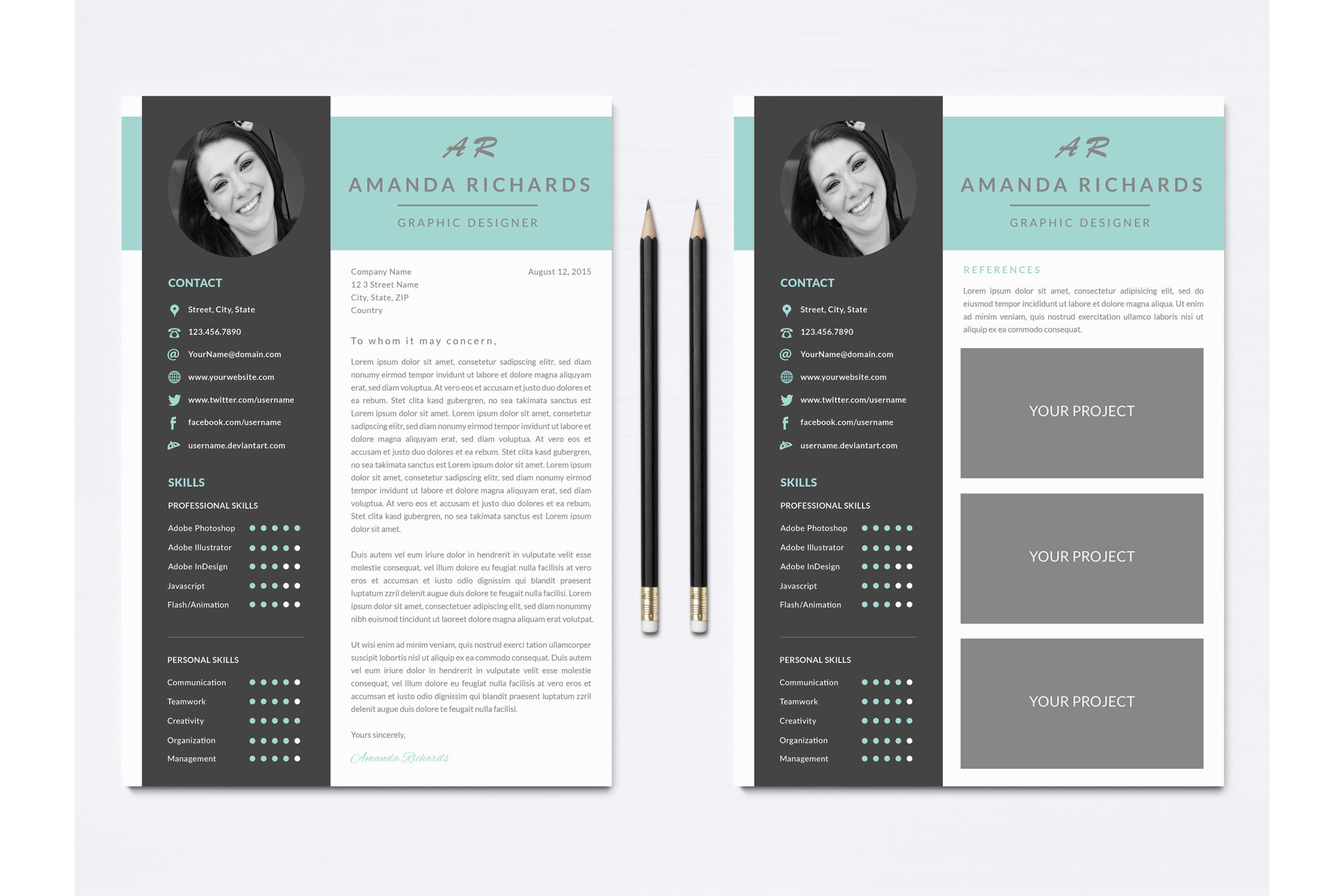 Resume Template for Photoshop example image 3