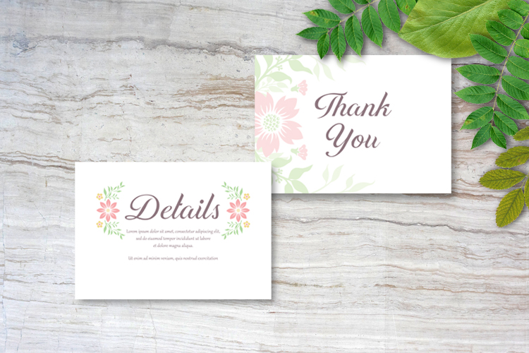 Floral Wedding Invitations example image 5