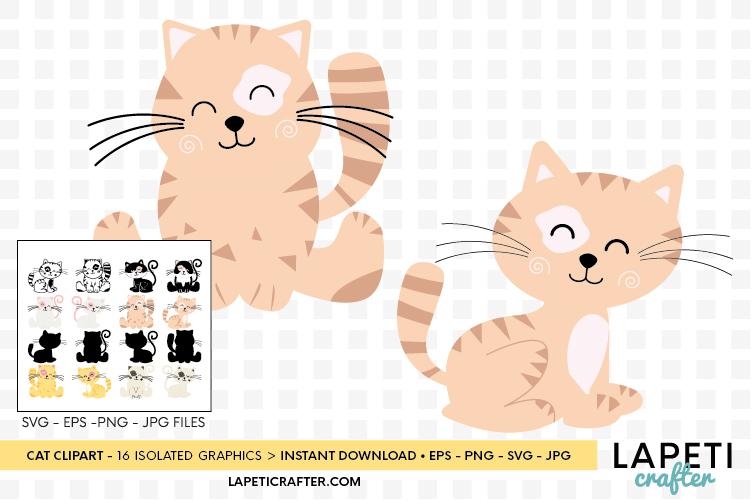 Cat clipart, kitten cats clipart, kitty clip art digital example image 6