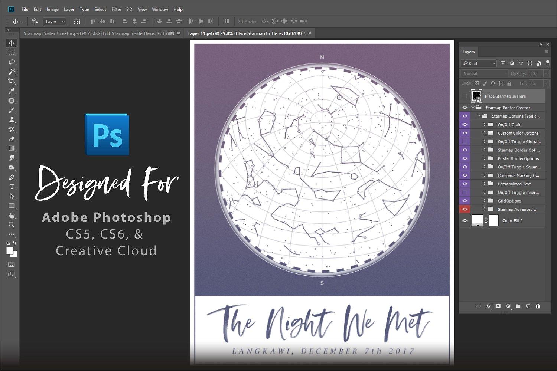 Custom StarMap Poster Creator for Photoshop example image 7