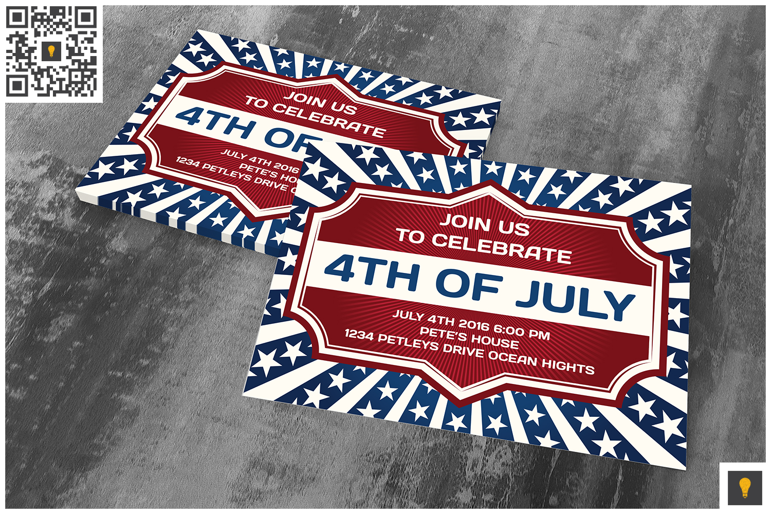 4th of July Invitation Card example image 2