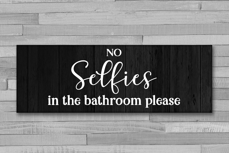 Bathroom Sign Bundle - 6 Bathroom SVG Designs example image 6