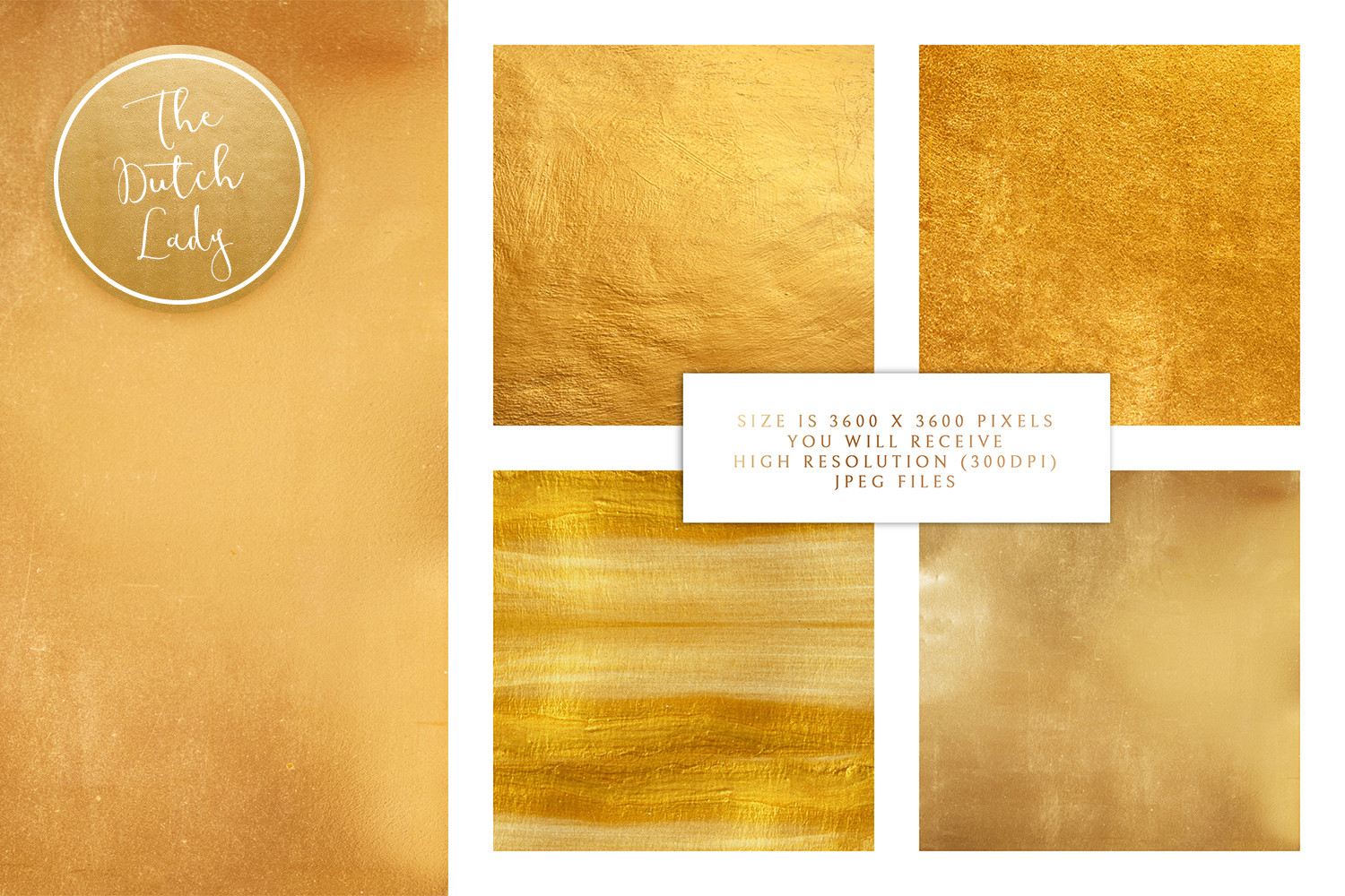 Gold Foil Texture Scrapbook Papers example image 2