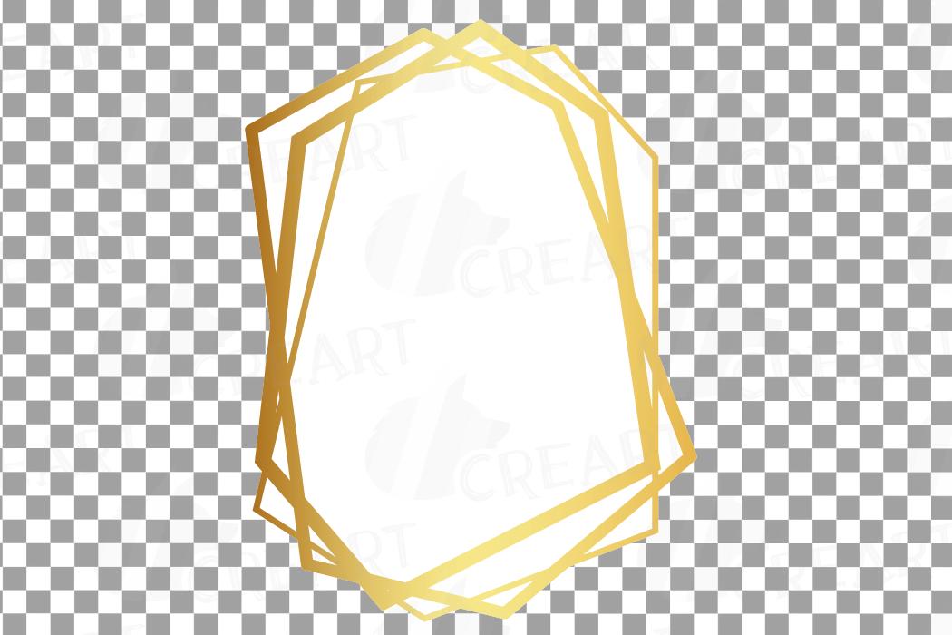 Elegant wedding geometric golden frames, lineal frames png example image 29