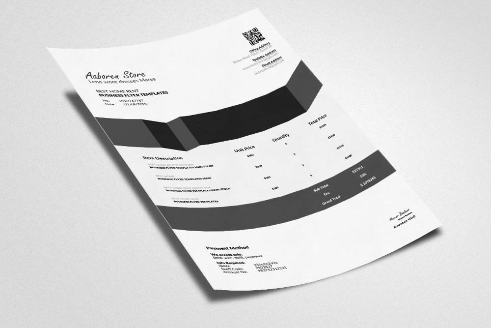 Invoice Template example image 3