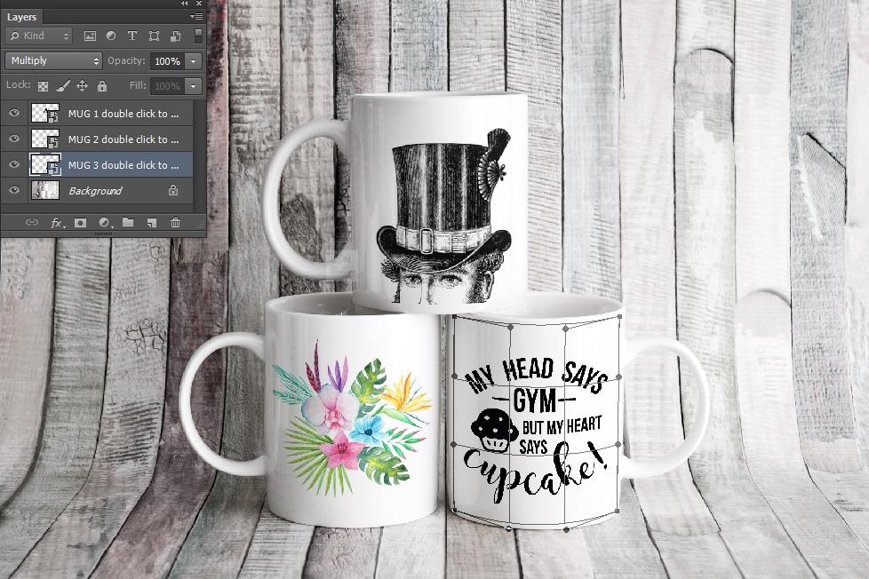 4x Bundle mug mockup PSD sublimation 11oz mugs mockups example image 11