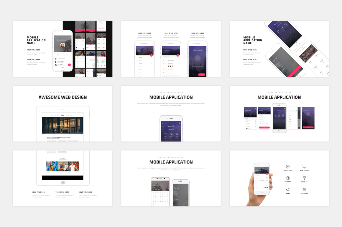 BURTE-Powerpoint Template example image 13