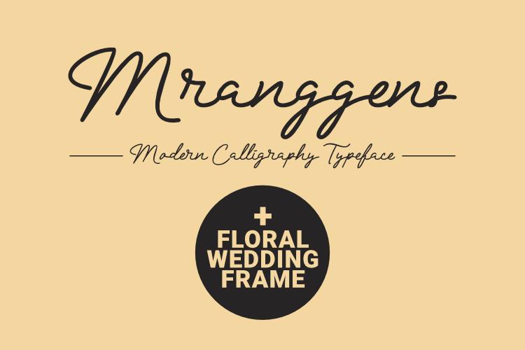 Mranggens Typeface example image 1