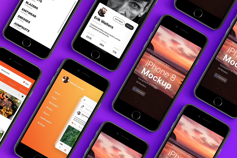 Presentation Kit - iPhone showcase Mockup_v3 example image 4