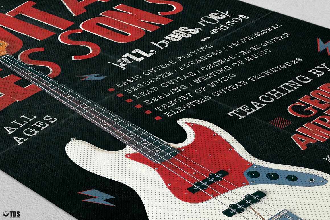 Guitar Lessons Flyer Bundle example image 10