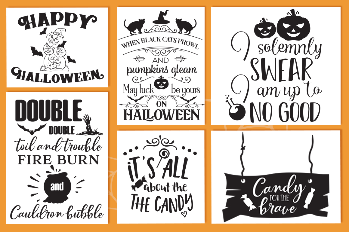The Halloween SVG Cut Files Pack with 30 Items example image 4
