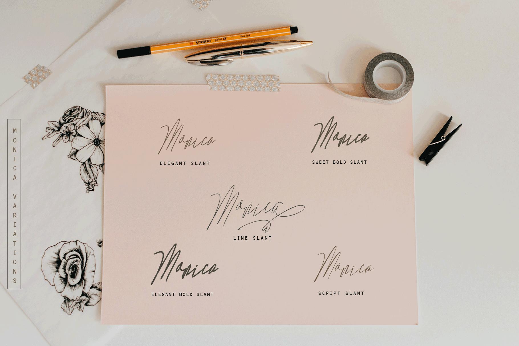 Monica -10 Elegant Font example image 3