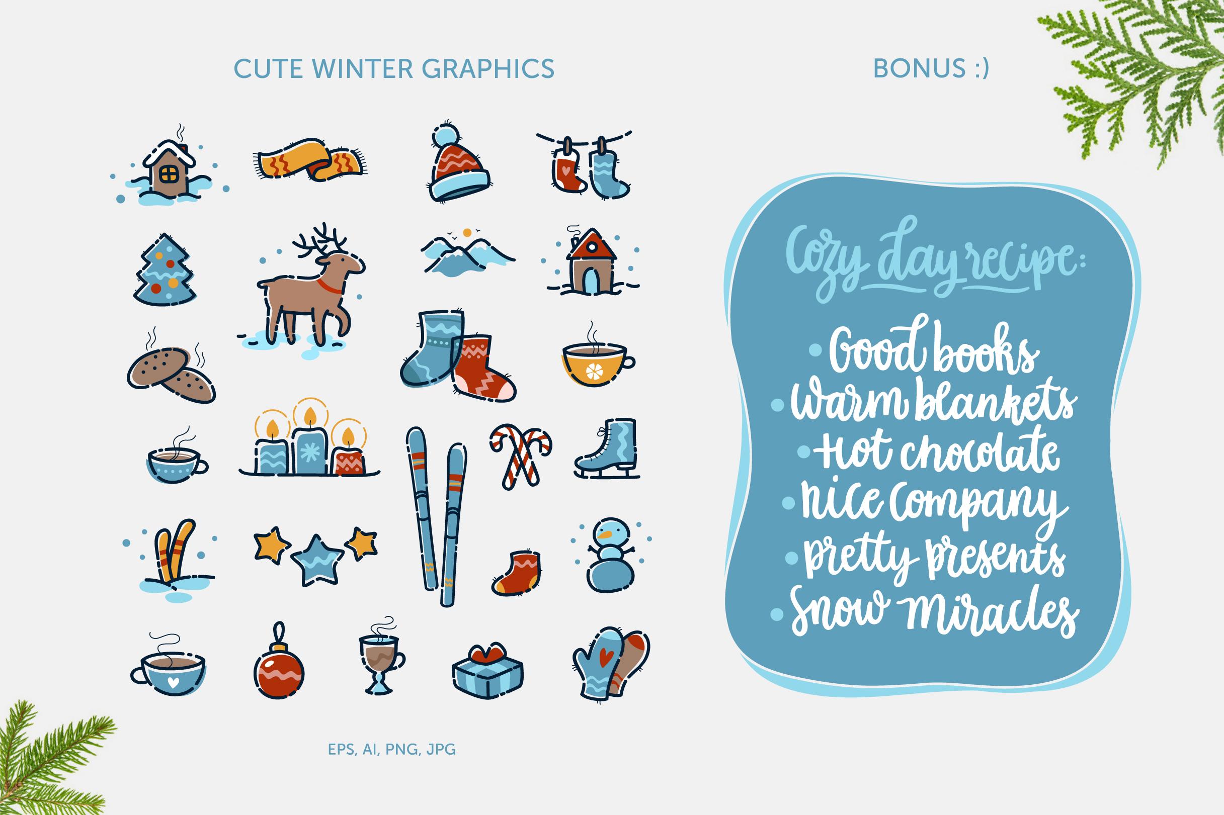 Winter Pleasures vector quote example image 3
