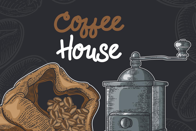 15 designs - Coffee restaurant brochure vector, coffee shop example image 1