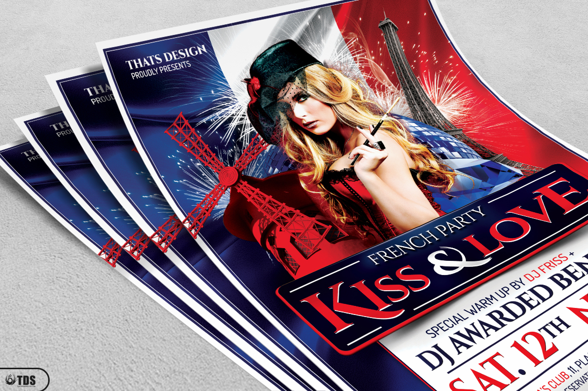 French Party Flyer Template V1 example image 3
