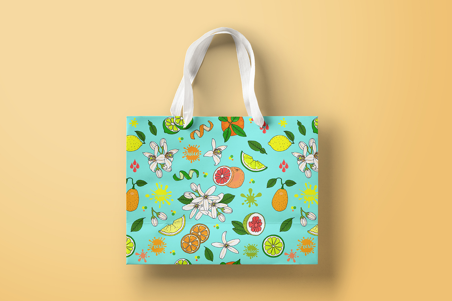 Hand Illustrated Citrus Fruits Pattern example image 2